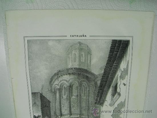 Arte: 1847 APSIDE (SIC) DE LA PARROQUIA DE SAN MARTIN ZARROCA F.J.PARCERISA - Foto 2 - 29066247
