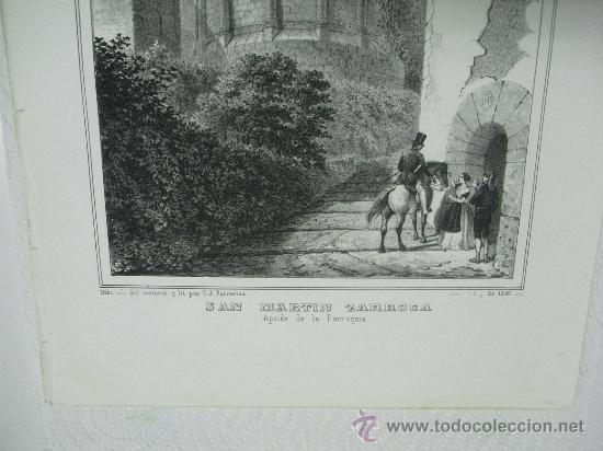 Arte: 1847 APSIDE (SIC) DE LA PARROQUIA DE SAN MARTIN ZARROCA F.J.PARCERISA - Foto 3 - 29066247