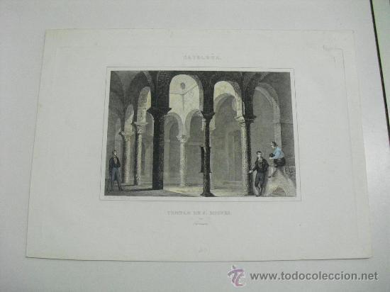1860 TEMPLO PRE-ROMANICO DE SAN MIGUEL EN TARRASA (Arte - Litografías)