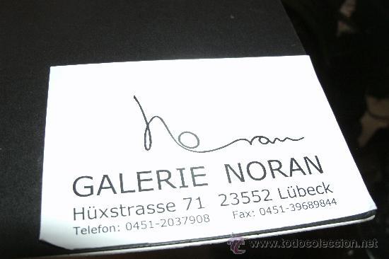 Arte: LITOGRAFIA / SERIGRAFIA FIRMADA DE AUTOR / GALERIA NORAN HUXSTRASSE LUBECK / ORIGINAL - Foto 7 - 29199238