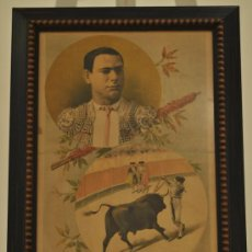 Arte: BONITA LITOGRAFIA - RAFAEL BEJARANO - TORERITO (TORERO CORDOBES) - LA LIDIA 13-AGOSTO-1888. Lote 29267634