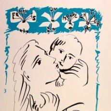 Arte: PABLO PICASSO / FEMMES DU MONDE ENTIER . LITOGRAFÍA FIRMADA Y FECHADA 3.11.50 EN PLANCHA. Lote 29617627