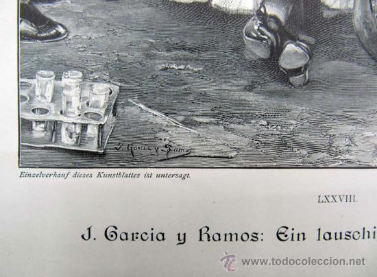 Arte: LITOGRAFIA GRUPO DE SEVILLANAS J. GARCIA Y RAMOS - Foto 4 - 30270081