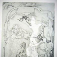 Arte: JORGE CASTILLO / BARCELONA . LITOGRAFÍA ORIGINAL FECHADA 1975 NUMERADA 40 / 99 Y FIRMADA A LÁPIZ. Lote 29770914