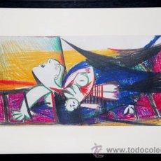 Arte: PICASSO / ESTUDIO PARA EL GUERNICA .ENMARCADO.FECHADO PLANCHA 10 MAI 37.EDICIÓN 6000 EJEMPLARES. Lote 29886288