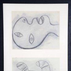 Arte: PICASSO / ESTUDIOS PARA EL GUERNICA . CABEZA Y MANO . ENMARCADO. EDICIÓN 6000 EJEMPLARES. Lote 30010413