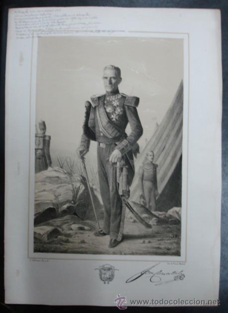 MILITAR. ESTADO MAYOR DEL EJERCITO ESPAÑOL. JOSE CARRATALA. 45 X 31 CM. (Arte - Litografías)