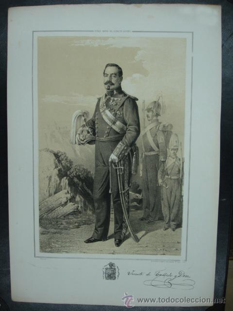 MILITAR. ESTADO MAYOR DEL EJERCITO ESPAÑOL. VICENTE DE TALLEDO Y DIEZ. 45 X 31 CM. (Arte - Litografías)