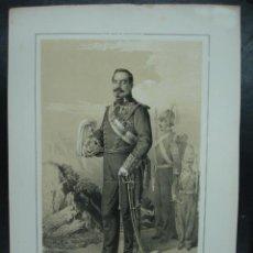 Arte: MILITAR. ESTADO MAYOR DEL EJERCITO ESPAÑOL. VICENTE DE TALLEDO Y DIEZ. 45 X 31 CM.. Lote 30107480