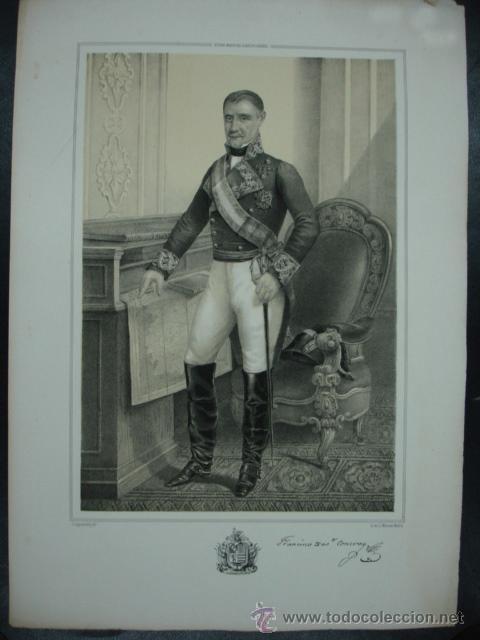 MILITAR. ESTADO MAYOR DEL EJERCITO ESPAÑOL. FRANCISCO CONWAY. 45 X 31 CM. (Arte - Litografías)