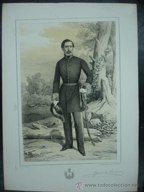 MILITAR. ESTADO MAYOR DEL EJERCITO ESPAÑOL. IGNACIO GURREA. 45 X 32 CM. (Arte - Litografías)