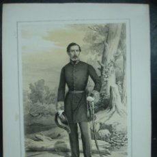 Arte: MILITAR. ESTADO MAYOR DEL EJERCITO ESPAÑOL. IGNACIO GURREA. 45 X 32 CM.. Lote 30107737