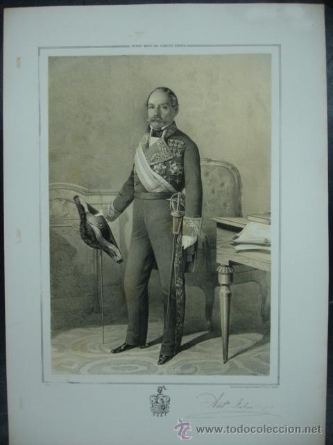 MILITAR. ESTADO MAYOR DEL EJERCITO ESPAÑOL. ANTONIO FALCON. 45 X 32 CM. (Arte - Litografías)