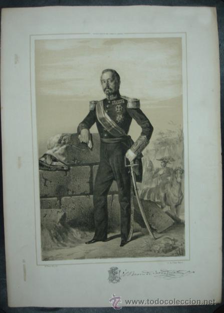 MILITAR. ESTADO MAYOR DEL EJERCITO ESPAÑOL. CARONDELET. 45 X 32 CM. (Arte - Litografías)