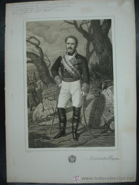MILITAR. ESTADO MAYOR DEL EJERCITO ESPAÑOL. ISIDORO DE HOYOS. CASTILLA LA NUEVA. 45 X 32 CM. (Arte - Litografías)