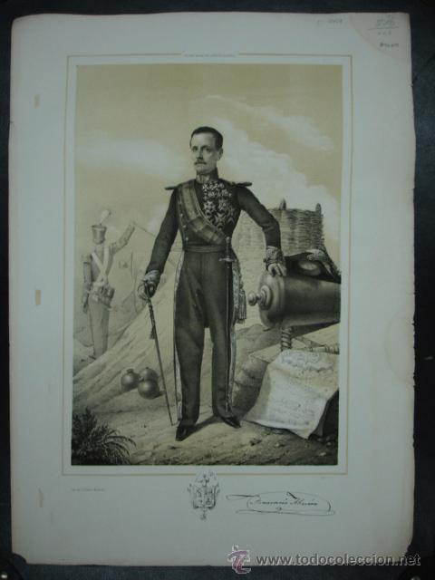 MILITAR. ESTADO MAYOR DEL EJERCITO ESPAÑOL. 45 X 32 CM. (Arte - Litografías)