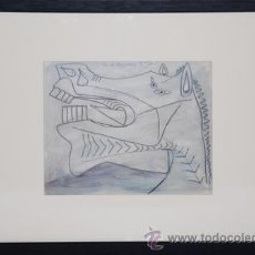 Arte: PICASSO / ESTUDIO PARA EL GUERNICA .CABEZA DE CABALLO .ENMARCADO.EDICIÓN 6000 EJEMPLARES.. Lote 30140335