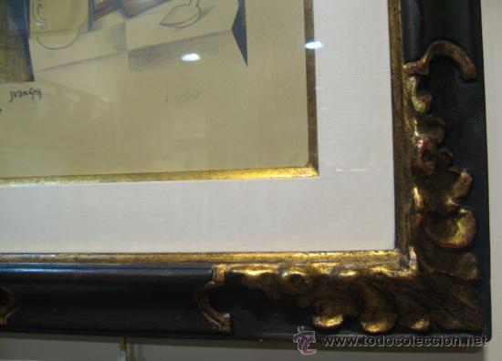 Arte: JUAN GRIS, Molinillo de café y vaso sobre una mesa edición limitada firmada y numerada - Foto 7 - 30211074