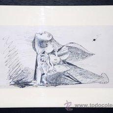 Arte: PICASSO / ESTUDIO PARA EL GUERNICA .MUJER ATERRORIZADA CON NIÑO EN BRAZOS. ENMARCADO. ED 6000 EJEMPL. Lote 30217529