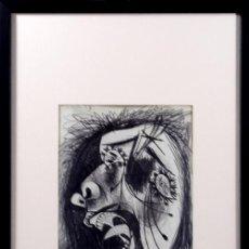 Arte: PICASSO / ESTUDIO PARA EL GUERNICA .MUJER ATERRORIZADA . ENMARCADO. EDICIÓN 6000 EJEMPLARES. Lote 30326341