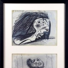 Arte: PICASSO / ESTUDIO PARA EL GUERNICA .MUJER Y HOMBRE ATERRIRIZADOS. ENMARCADO. EDICIÓN 6000 EJEM. Lote 30326350