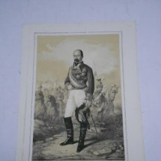 Arte: LITOGRAFÍA DEL TENIENTE GENERAL ANSELMO BLASER NACIDO EN SIRESA (ARAGON) 1807-1872. 42X31 CMS. Lote 30539046