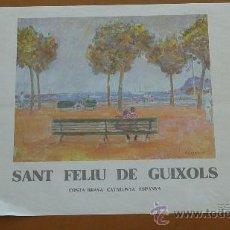 Arte: CARTEL ORIGINAL DE LA EXPOSICION DE AMAT EN SANT FELIU DE GUIXOLS. . Lote 30576190