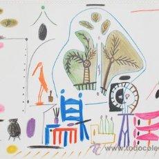 Arte: PICASSO / INTERIOR LA CALEFORNIE.LITOGRAFÍA MONTADA PASSPARTOUT.FECHADA PLANCHA.08.11.55 MOURLOT. Lote 30579960