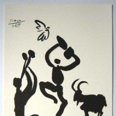 Arte: PABLO PICASSO / FLAUTISTA. LITOGRAFÍA FIRMADA Y FECHADA 17.11.59 EN LA PLANCHA. Lote 31201815