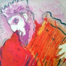 Arte: CHAGALL, M. (1887-1985). DAVID CON ARPA. NUMERADA. LIMITADA.. Lote 31401922