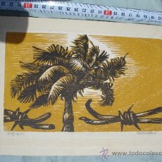 Arte: DIBUJO TARJETA DE FELICITACIÓN DE AÑO NUEVO 1977 GOBIERNO DE CUBA ANTONIO CANET. Lote 31570253