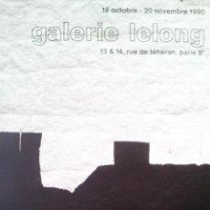 Arte: CHILLIDA, E (1924-2002). CARTEL EXPOSICION 1990.. Lote 31734659