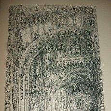 Arte: VALLADOLID PORTADA DE LA IGLESIA DE SAN PABLO LITOGRAFIA 1896. Lote 32287774