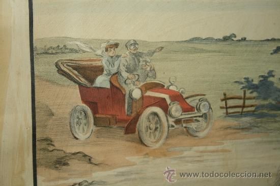 Arte: K3-015. DIVERTIDA LITOGRAFÍA FIRMADA ARMENGOL LA REVANCHE DU CHEVAL PARIS CIRCA 1915 - Foto 4 - 32392817