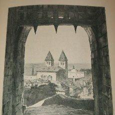 Arte: TOLEDO VISTA DE LA CIUDAD LITOGRAFIA INGLESA 1890. Lote 37073057