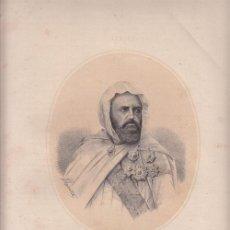 Arte: LITOGRAFÍA. ABD-EL-KADER 1808-1883). ARGELIA - LIT. DE DONON, 1867 . Lote 32480044