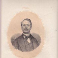 Arte: LITOGRAFÍA. URBANO RATAZZI (1808-1883). POLÍTICO, ITALIA - LIT. N. GONZÁLEZ, 1867. Lote 32504372