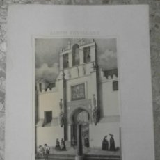 Arte: 1849 LITOGRAFIA DE SEVILLA CATEDRAL PUERTA DEL PERDON ALBUM SEVILLANO DE CARLOS SANTIGOSA. Lote 32638528