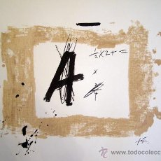Arte: TAPIES, A. (1923-2011). MAGNIFICA LITOGRAFIA SOBRE ARCHES. LIMITADA. 1976.. Lote 33539425