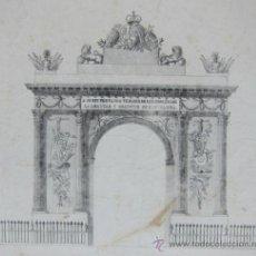 Arte: CUATRO LITOGRAFIAS CELEBRACION VISITA FERNANDO VII A BARCELONA. 1827. Lote 34933695