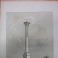 Arte: PILAR DE POMPEYO, EN ALEJANDRÍA (EGIPTO), J.H.ALLAN, 1843. Lote 34945984