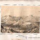 Arte: LITOGRAFÍA ORIGINAL 1850. LOS HORNAJOS. GRANADA. VELETA. SIERRA NEVADA. PARCERISA. Lote 35086329