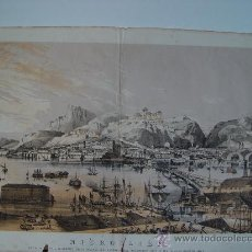 Arte: LITOGRAFÍA 'NICHOLAIEF ON THE RIVER BUG' EN 1855. THE RUSSIAN IMPERIAL NAVY. Lote 35361220