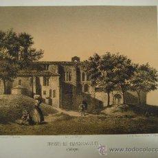 Arte: LITOGRAFÍA DE F. J. PARCERISA. CONVENTO DE FRANCISCANAS EN SAHAGÚN (LEÓN). 1855.. Lote 35406914