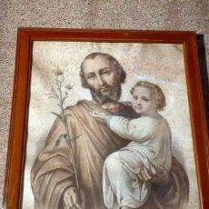 Arte: LITOGRAFÍA DE SANT JOSEPH.ENMARCADO EN REUS.VDA DE FRANCISCO SANROMÀ.. Lote 36021168