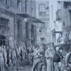 Arte: MADRID CALLE DE LA CAZA 1874. Lote 36692542