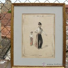 Arte: LITOGRAFÍA DE JULES RIGO - BALS FASHIONABLES DE LÓPERA - FLEUR D'AMOUR. Lote 37366377