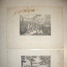 Arte: 2 GRABADOS DE GRANDES DIMENSIONES (38 X 29 CM) DE HISTORIA DE HISPANIA ANTIGUA.. Lote 37411624