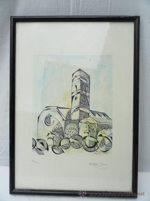 LITOGRAFÍA ENMARCADA ANTONI MAS CASTELLOT, MAYO 1980. NUMERADA Y FIRMADA. (Arte - Litografías)