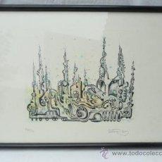 Arte: LITOGRAFÍA ENMARCADA ANTONI MAS CASTELLOT, MAYO 1980. NUMERADA Y FIRMADA.. Lote 37552805